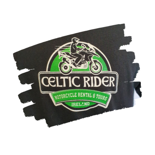 Celtic Rider Logo double-printed on front chest.