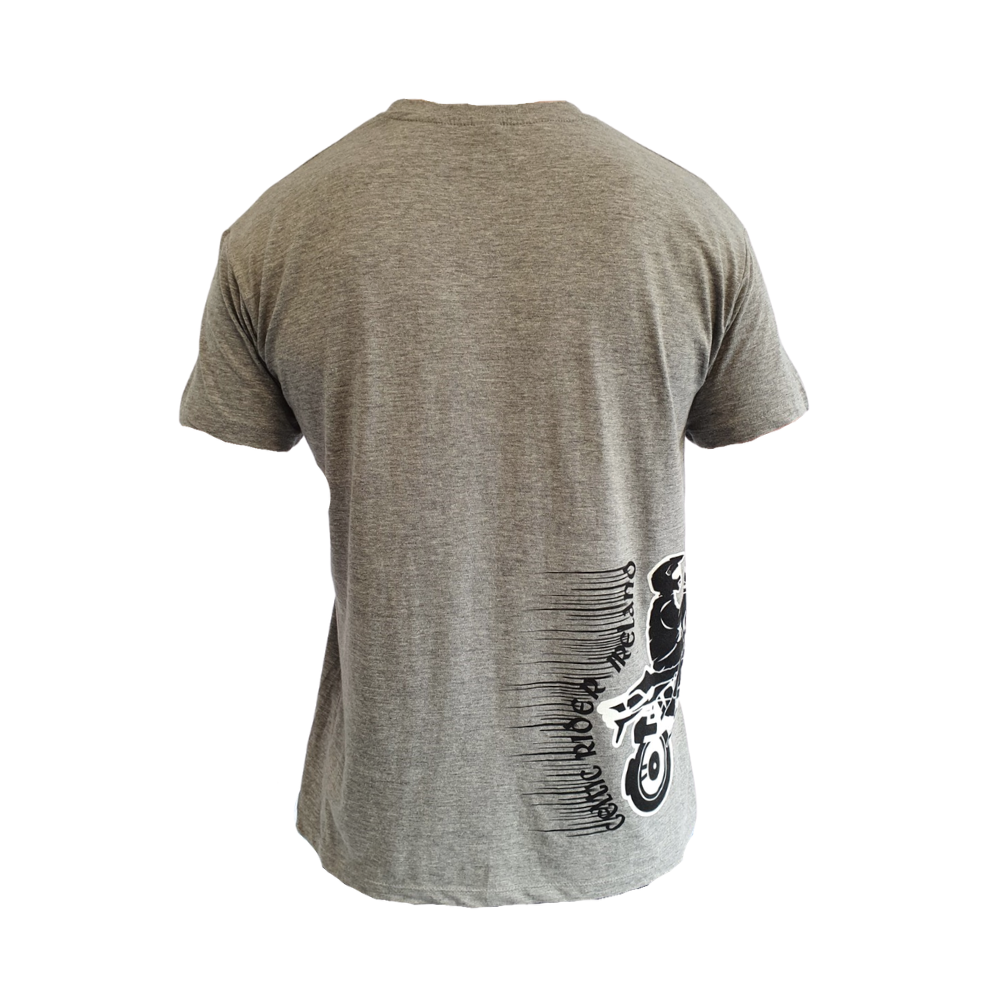Grey Celtic Rider t-shirt back with BMW GS on side