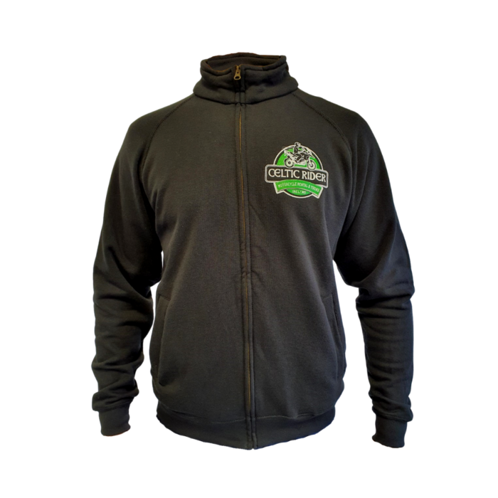 Classic Celtic Rider zip-up sweater