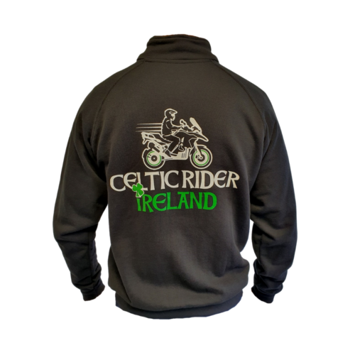 Classic Celtic Rider zip-up sweater