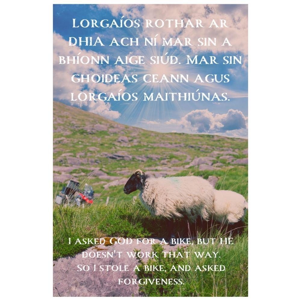 I Asked Forgiveness Irish Poster #3