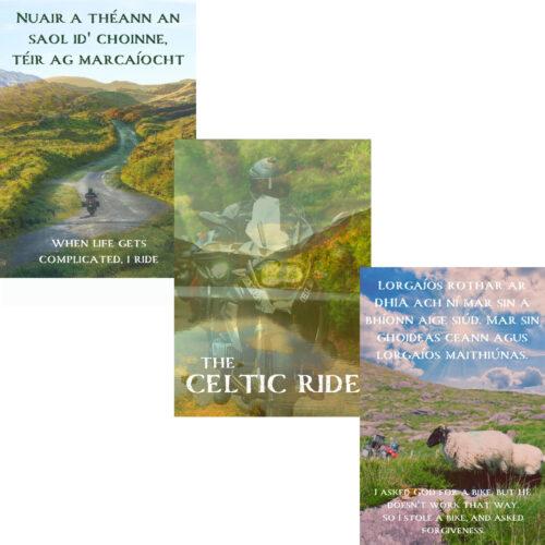 'The Celtic Ride' Mystic Ireland Print Set of 3