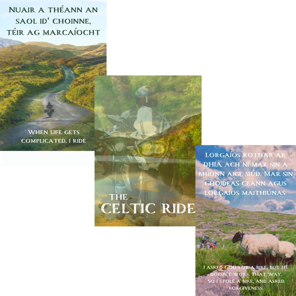 'The Celtic Ride' Mystic Ireland Print Set of 3
